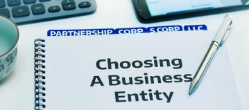 """Notebook labeled """"Choosing a Business Entity"""""""